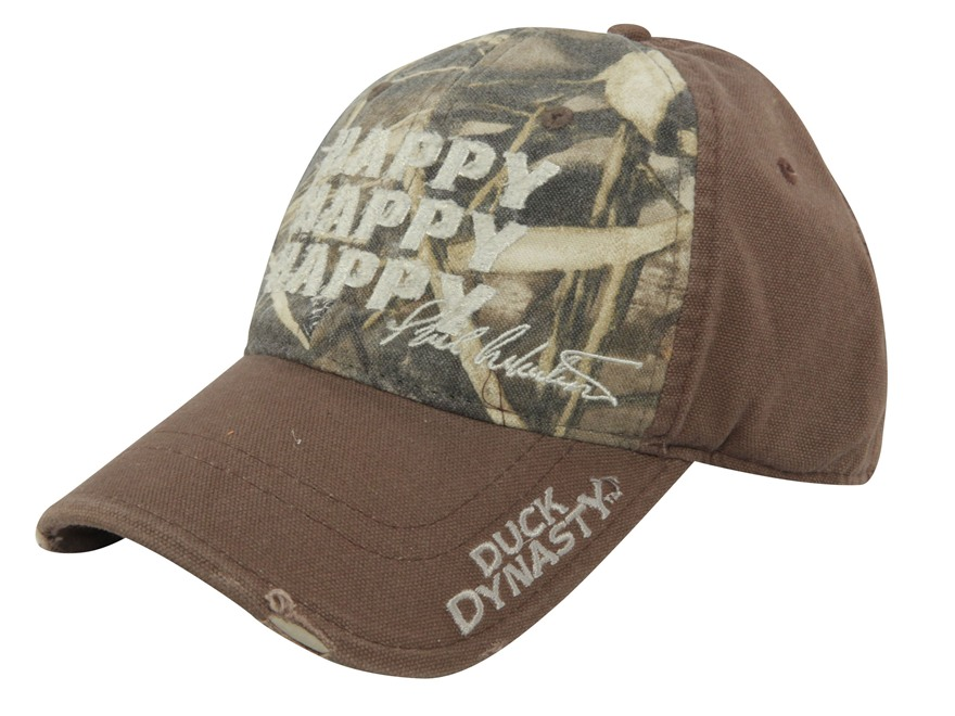 Duck Dynasty Happy Happy Happy Cap Cotton Brown and Realtree Max-4 Camo
