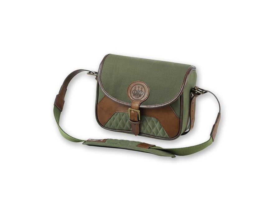 Beretta B1 Signature Medium Range Bag 4 Box Canvas/Leather Loden Green/Brown