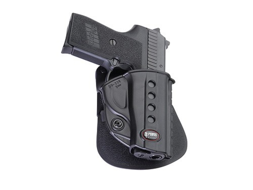 Fobus Evolution Roto Paddle Holster Right Hand Sig Sauer P239 9mm, S&W Sigma 380, SW380...
