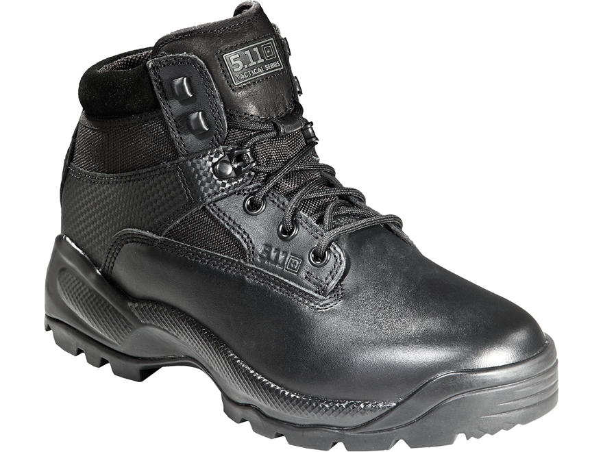 "5.11 ATAC 6"" Tactical Boots Side Zip Leather and Nylon Black Women's"
