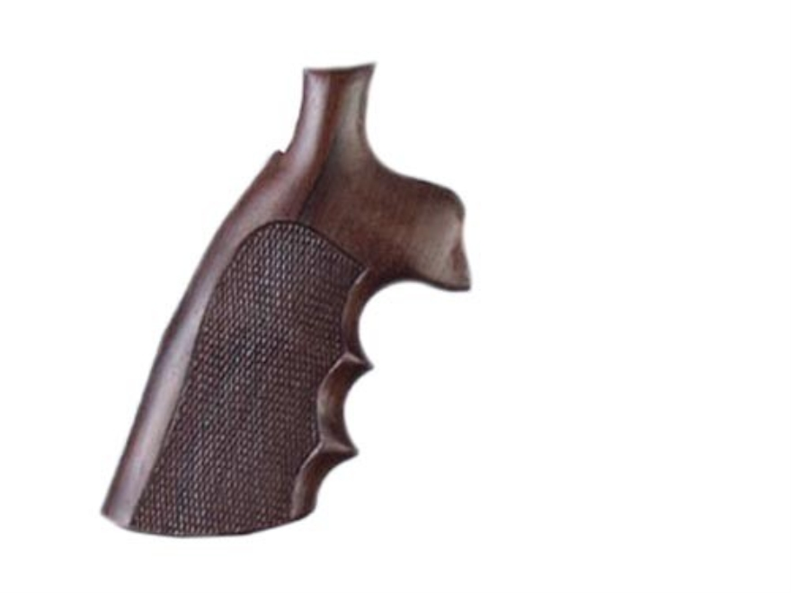 Hogue Fancy Hardwood Grips with Finger Grooves Ruger Redhawk Checkered