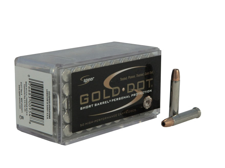 Speer Gold Dot Short Barrel Ammunition 22 Winchester Magnum Rimfire (WMR) 40 Grain Holl...