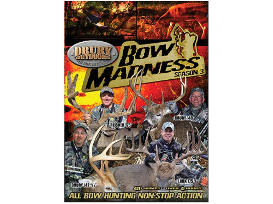 Drury Outdoors Bow Madness Season 3 Video DVD