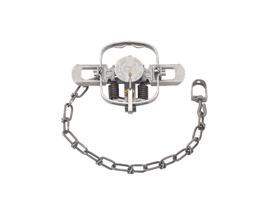 Duke #1 Double Jaw Coil Spring Trap Steel Silver