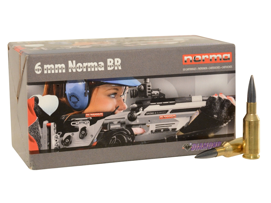 Norma USA Ammunition 6mm Norma BR (Bench Rest) 105 Grain Diamond Line Hollow Point Boat...