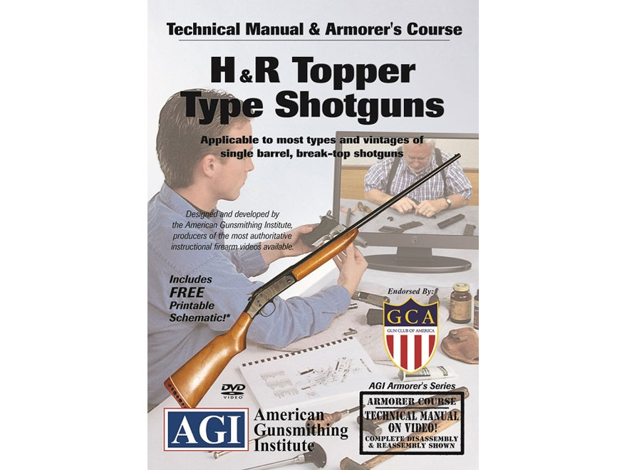 """American Gunsmithing Institute (AGI) Technical Manual & Armorer's Course Video """"H&R Top..."""