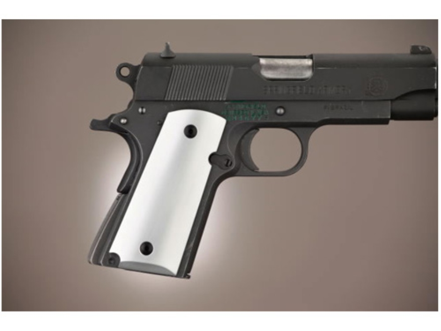 Hogue Extreme Series Grip 1911 Officer Brushed Aluminum Gloss Clear