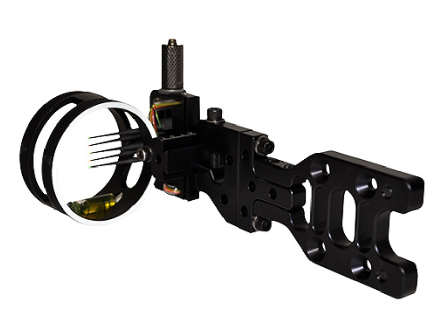 "Sword Twilight Hunter 5-Pin Bow Sight .019"" Pin Diameter Right Hand Aluminum Black"