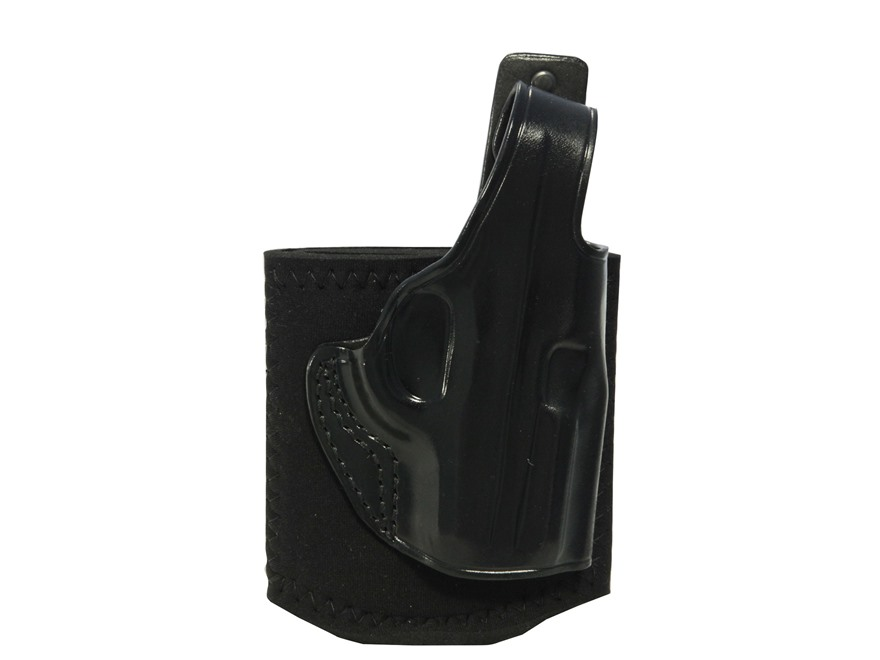 Galco Ankle Glove Holster Right Hand Sig Sauer P290 Leather with Neoprene Leg Band Black