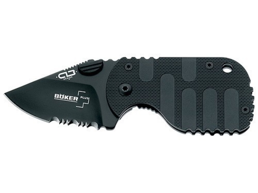 "Boker Plus Subcom F Folding Knife 1-7/8"" Drop Point AUS-8 Stainless Steel Blade Nylon H..."