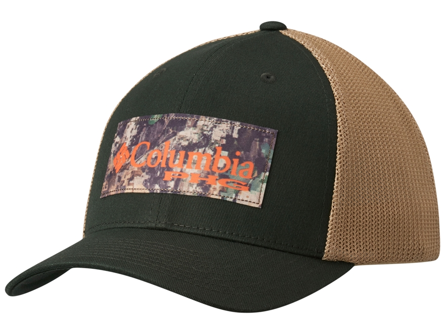 Columbia PHG Camo Patch Mesh Back Fitted Cap Cotton