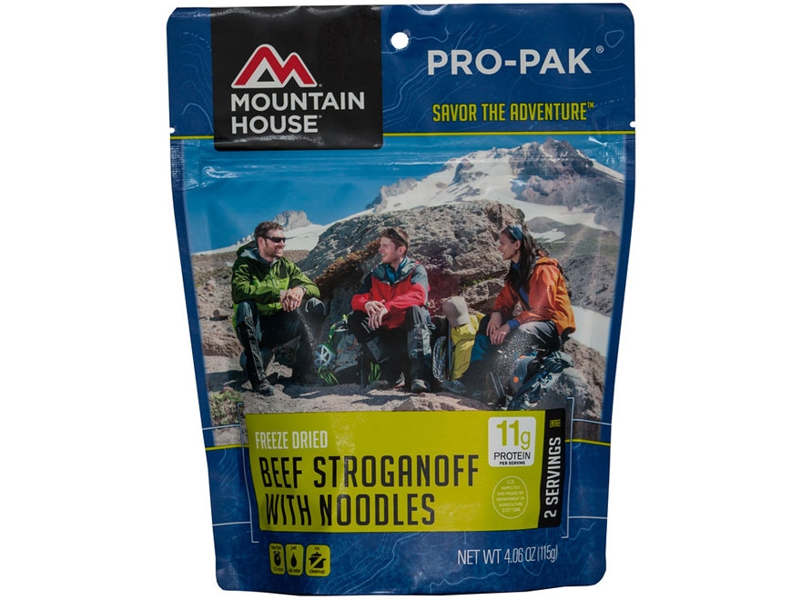 Mountain House 2 Serving Beef Stroganoff Freeze Dried Food Pro-Pak 4.06 oz