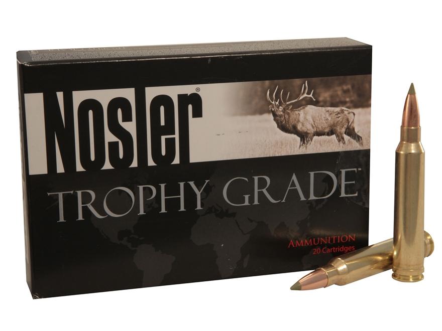 Nosler Trophy Grade Ammunition 338 Winchester Magnum 225 Grain E-Tip Box of 20