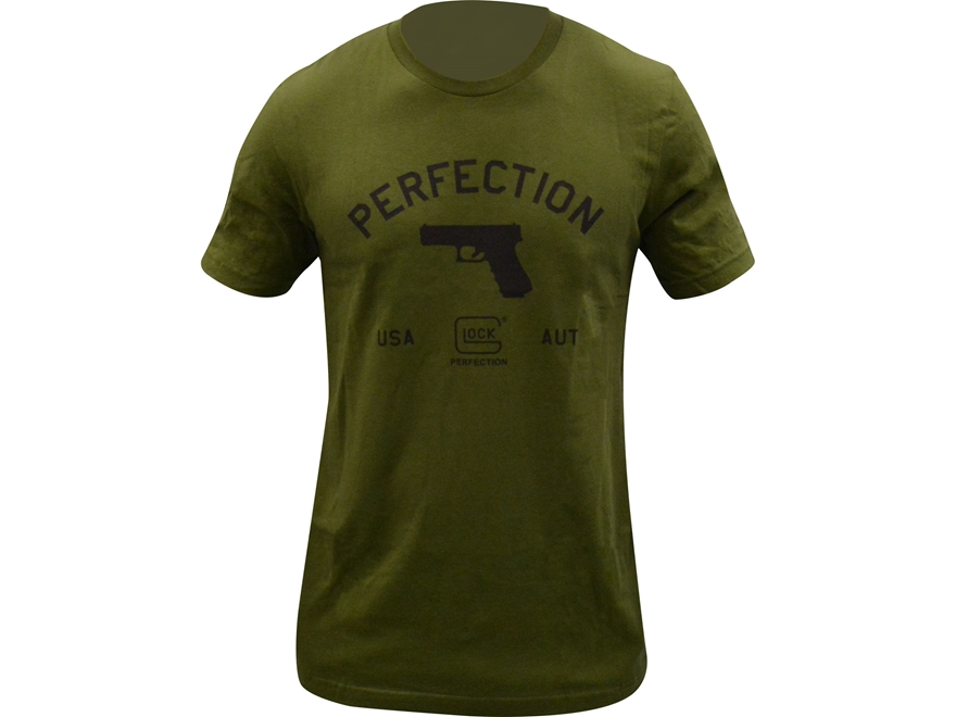 Glock Men's Perfection Pistol Logo T-Shirt Cotton