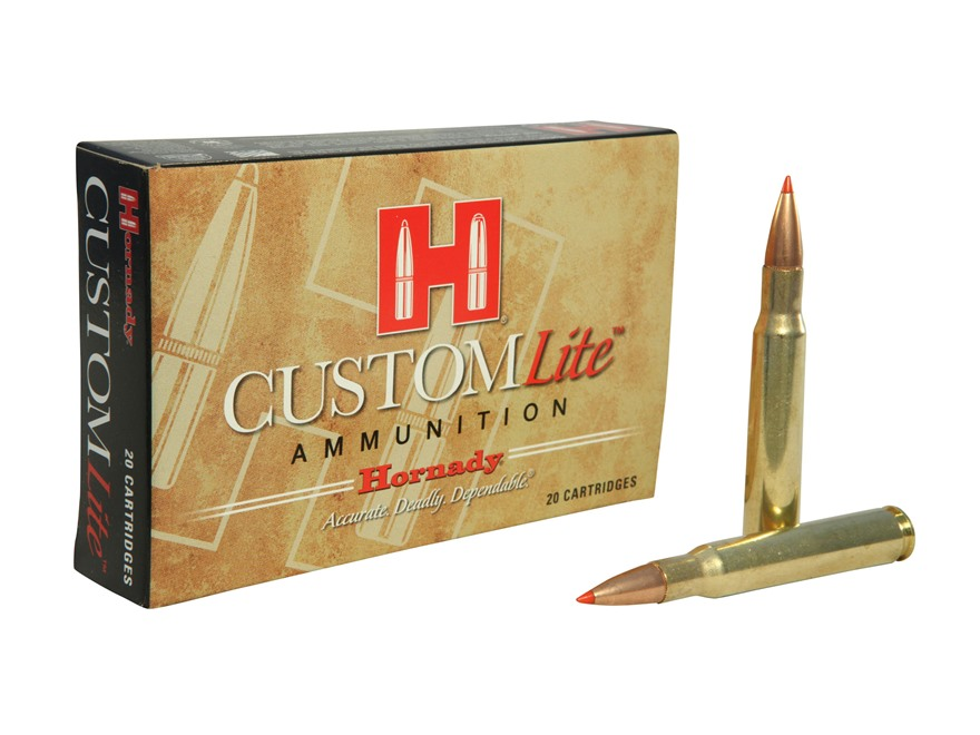 Hornady Custom Lite Ammunition 30-06 Springfield 125 Grain SST Box of 20