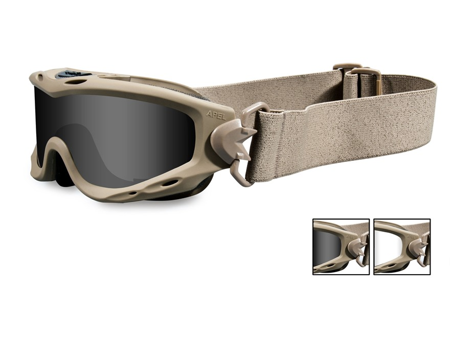 Wiley X Spear Tactical Goggles Smoke Gray and Clear Lens