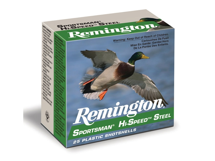 "Remington Sportsman Hi-Speed Ammunition 12 Gauge 2-3/4""  1 oz  #7 Non-Toxic Steel Shot"