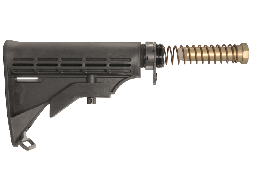 AR-Stoner M4 Stock Assembly 6-Position Mil-Spec Diameter Collapsible AR-15 Carbine Synt...