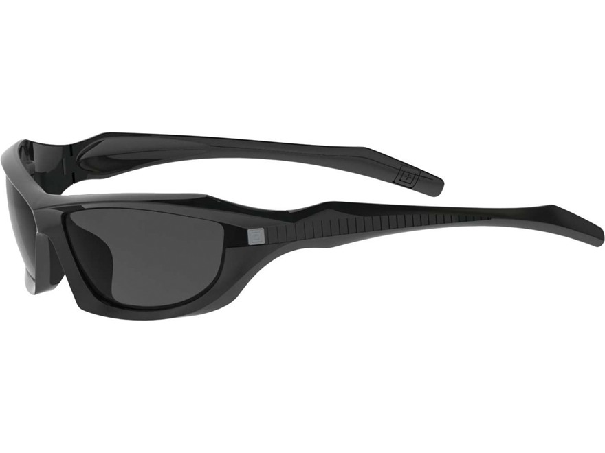 5.11 Burner Full Frame Sunglasses Matte Black Polymer Frame with Polarized Smoke Lens