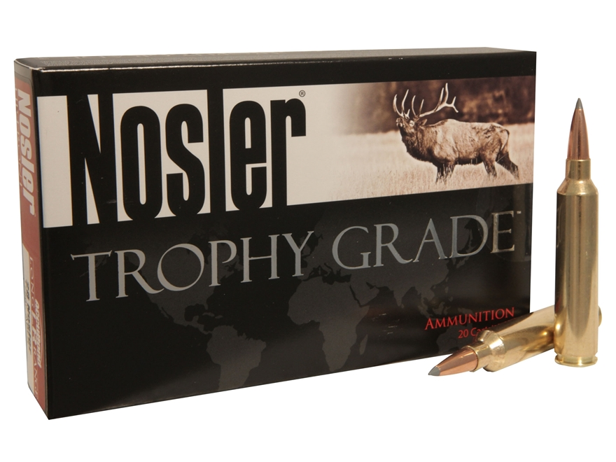 Nosler Trophy Grade Ammunition 33 Nosler 265 Grain AccuBond Long Range Box of 20