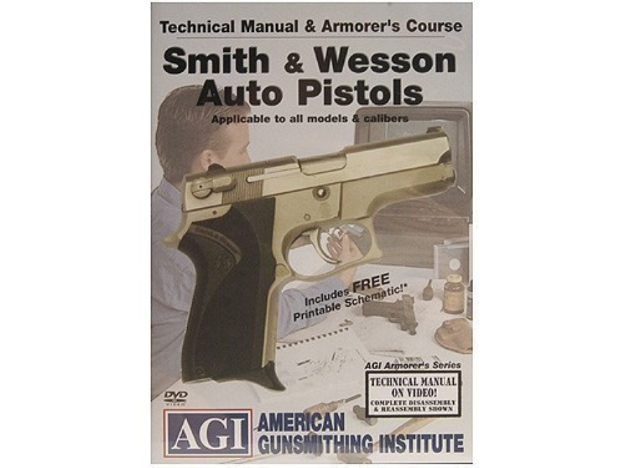 "American Gunsmithing Institute (AGI) Technical Manual & Armorer's Course Video ""Smith &..."