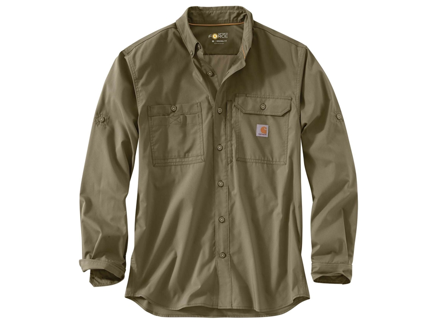 carhartt men 39 s force ridgefield button up shirt long sleeve