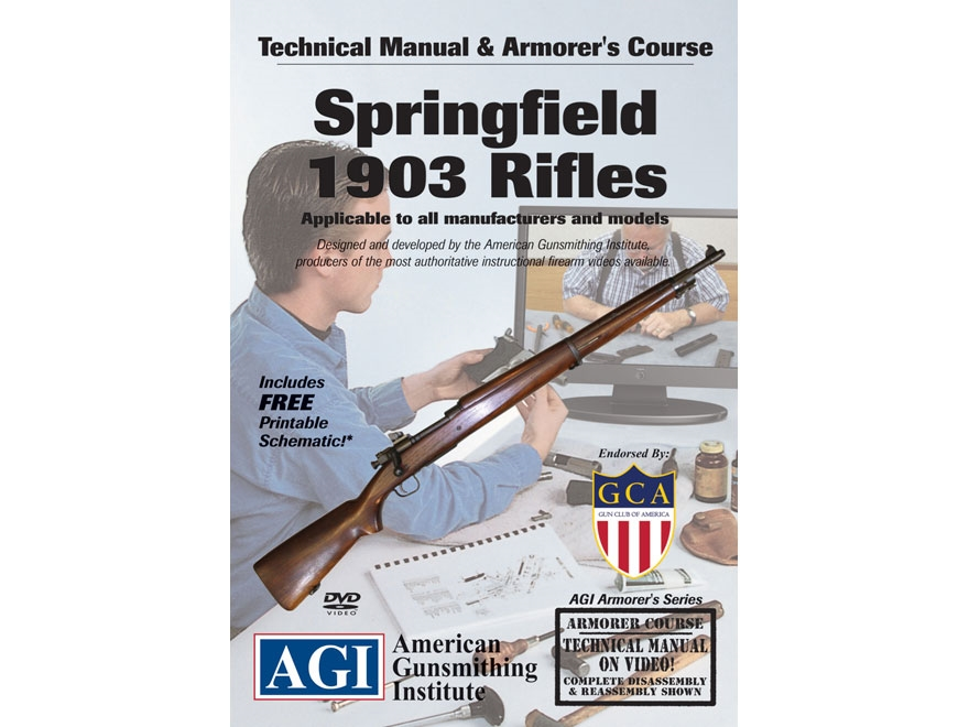 """American Gunsmithing Institute (AGI) Technical Manual & Armorer's Course Video """"Spingfi..."""