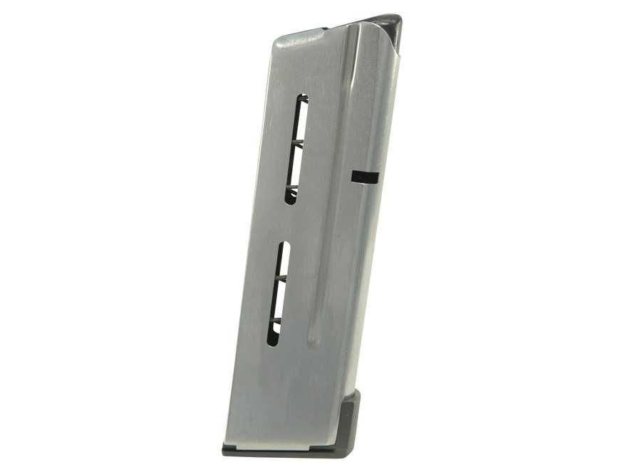 Wilson Combat Magazine with Low Profile Steel Base Pad 1911 Compact 38 Super 9-Round St...