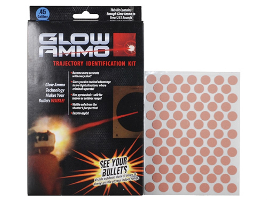 Glow Ammo Trajectory Identification Kit 45 Caliber (430 Diameter) 1 grain box of 255 Re...