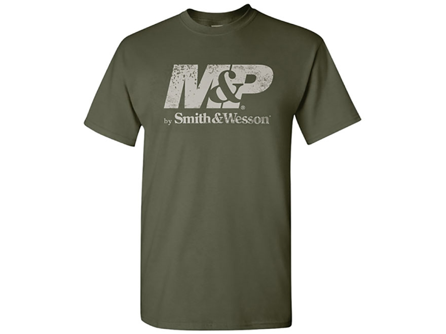 Smith & Wesson Men's M&P Distressed Logo T-Shirt Short Sleeve Cotton