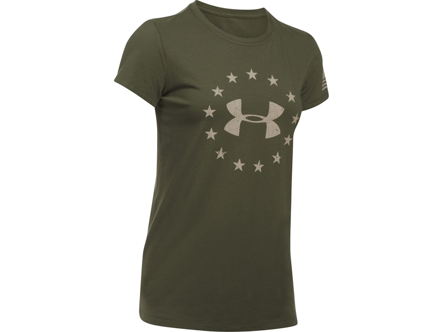 Under Armour Women's UA Freedom Logo T-Shirt Short Sleeve Charged Cotton