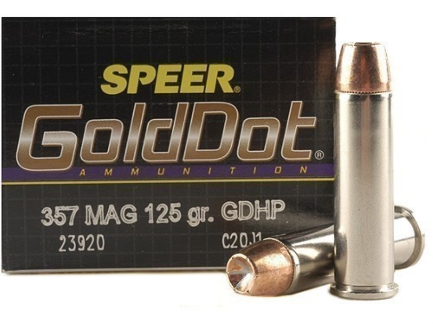 Speer Gold Dot Ammunition 357 Magnum 125 Grain Jacketed Hollow Point