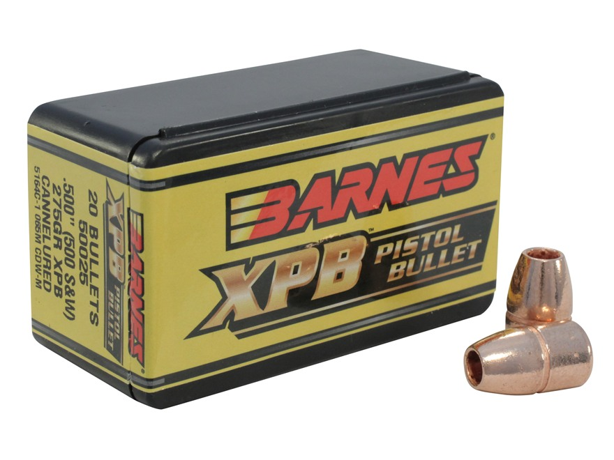 Barnes XPB Handgun Bullets 500 S&W (500 Diameter) 275 Grain Solid Copper Hollow Point L...