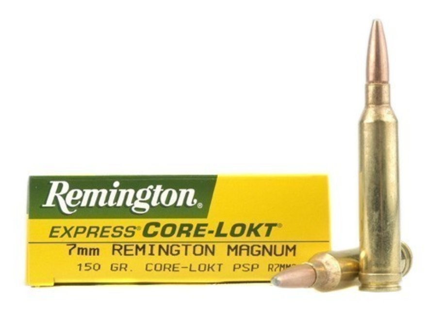 Remington Express Ammunition 7mm Remington Magnum 150 Grain Core-Lokt Pointed Soft Poin...