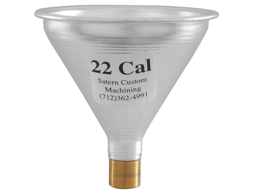 Satern Powder Funnel 22 Caliber Aluminum and Brass
