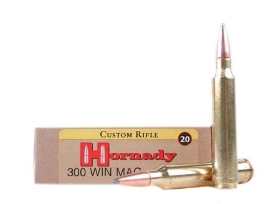 Hornady Custom Ammunition 300 Winchester Magnum 165 Grain InterLock Spire Point Boat Ta...