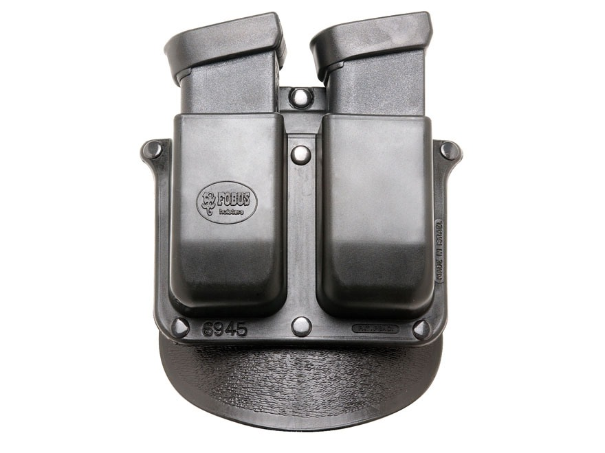Fobus Paddle Double Magazine Pouch Double-Stack Glock, Para-Ordnance 10mm Auto, 45 ACP ...