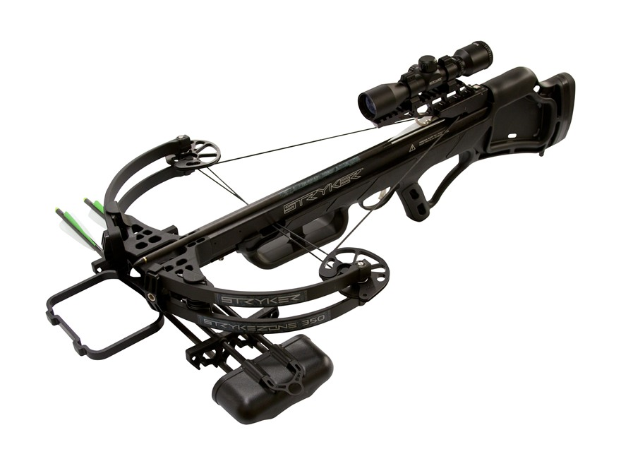 Stryker Strykezone 350 Crossbow Package with 3x 32mm Multi-Reticle Crossbow Scope Black