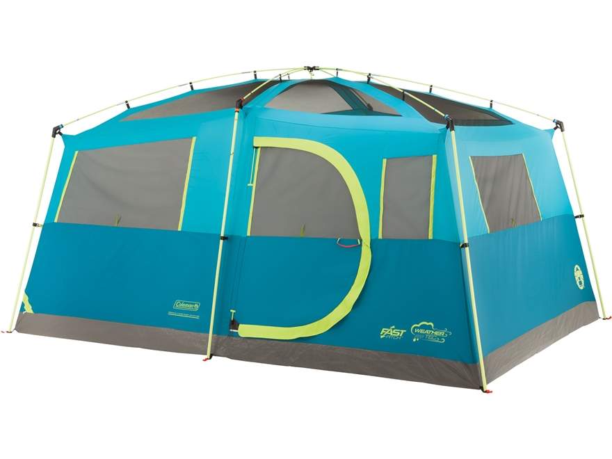 "Coleman Tenaya Lake Fast Pitch 8 Man Cabin Tent 156""x108""x80"" with Closet Polyester Blu..."