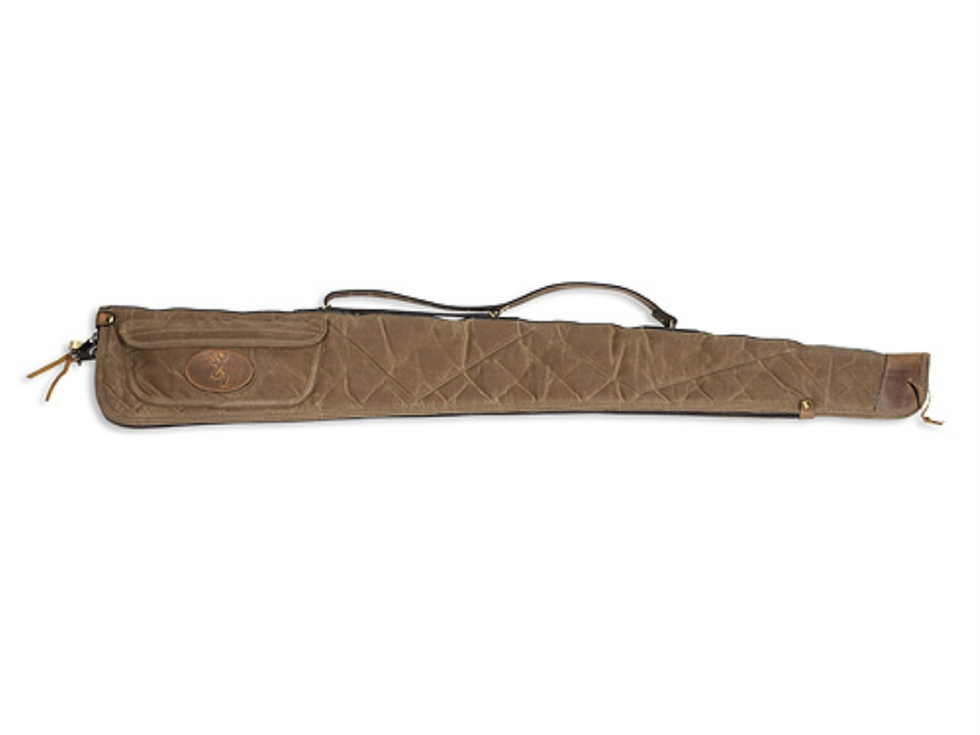"Browning Santa Fe Shotgun Gun Case 52"" Waxed Cotton Canvas Tan"
