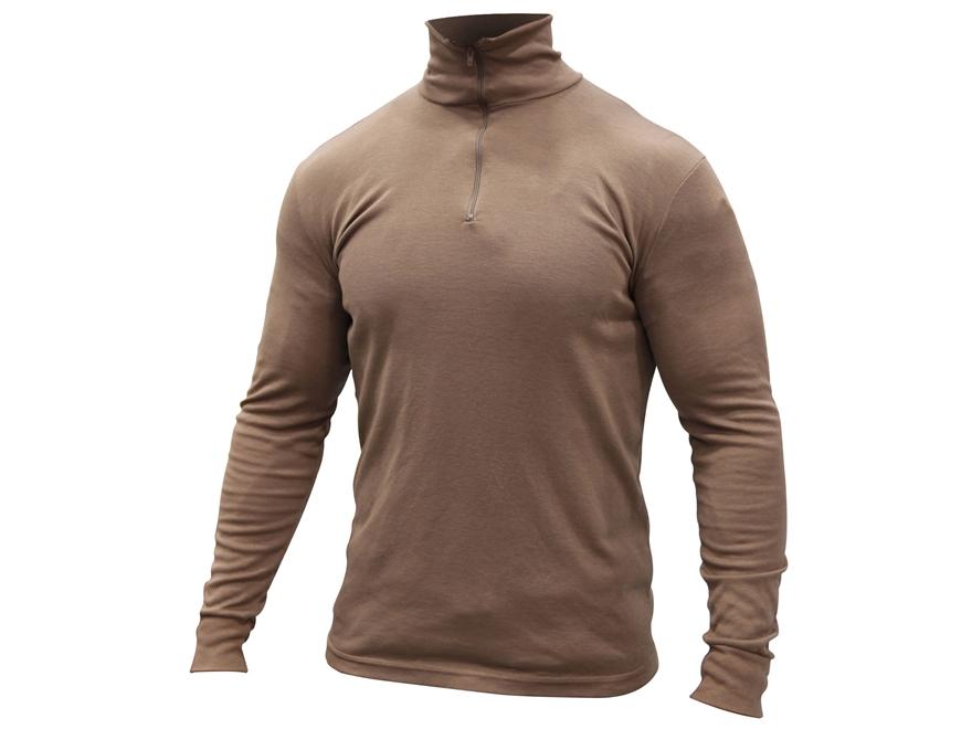 Military Surplus Lightweight Base Layer Shirt Polyester Brown