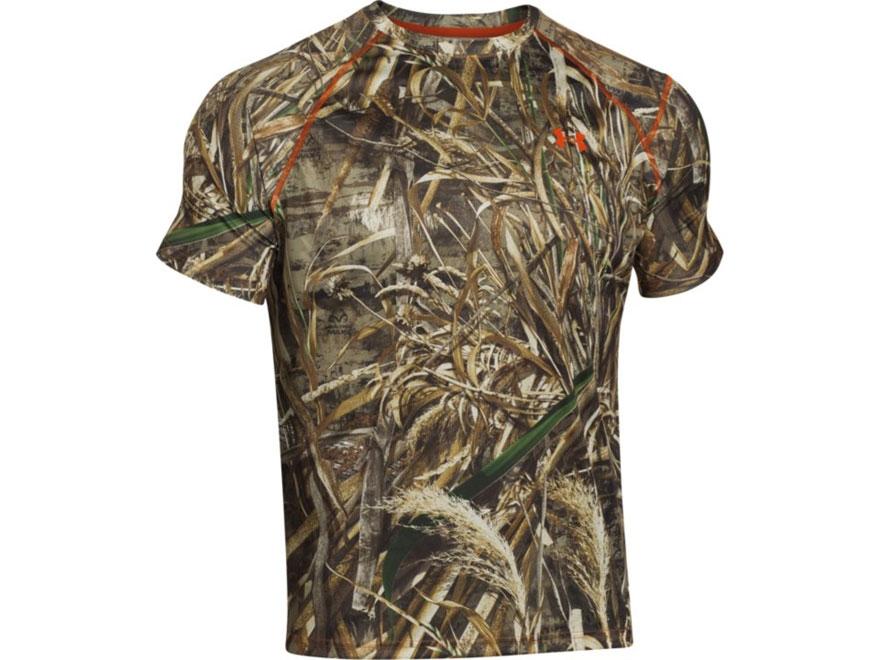 Under Armour Men's EVO Scent Control HeatGear T-Shirt Short Sleeve Polyester