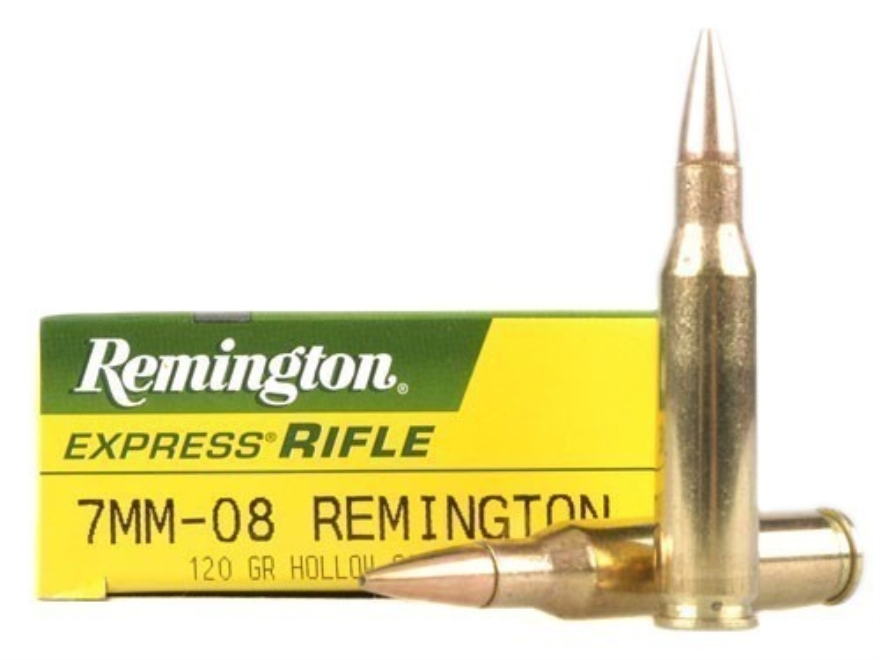 Remington Express Ammunition 7mm-08 Remington 120 Grain Hollow Point Box of 20