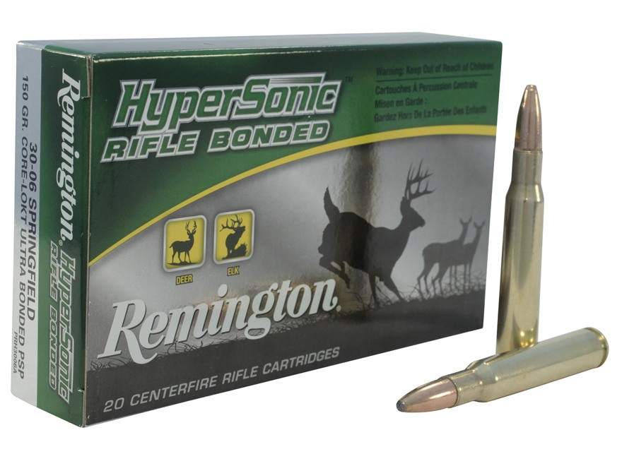 Remington HyperSonic Ammunition 30-06 Springfield 150 Grain Core-Lokt Ultra Bonded Poin...