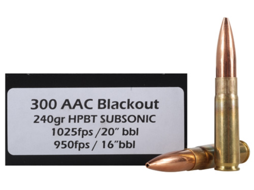 DoubleTap Ammunition 300 AAC Blackout 240 Grain Sierra MatchKing Hollow Point Boat Tail...