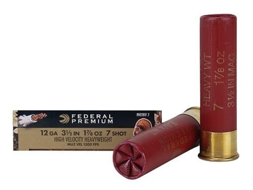 "Federal Premium Mag-Shok Turkey Ammunition 12 Gauge 3-1/2"" 1-7/8 oz #7 Heavyweight Non-..."