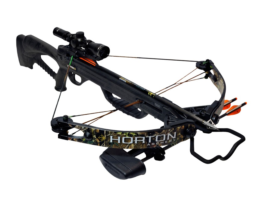 Horton Bone Crusher 160 Crossbow Package with 4x 32mm Mult-A-Range Crossbow Scope Realt...