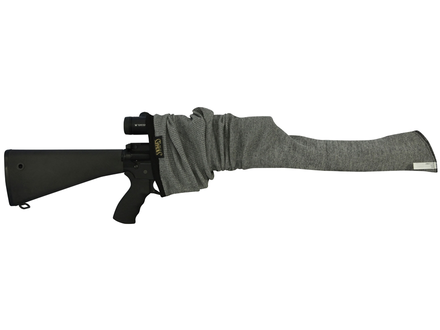 Sack-Ups Magnum Gunsack AR-15 Silicon-Treated Cotton Blend Gray 52""