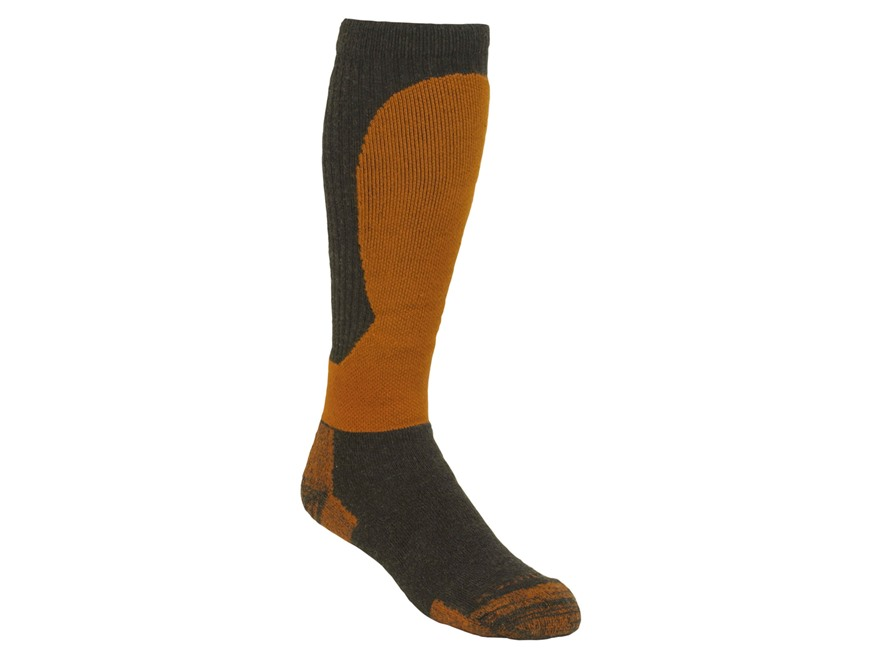 Kenetrek Men's Alaska Super Heavyweight Over the Calf Socks Merino Wool Blend Black/Ora...