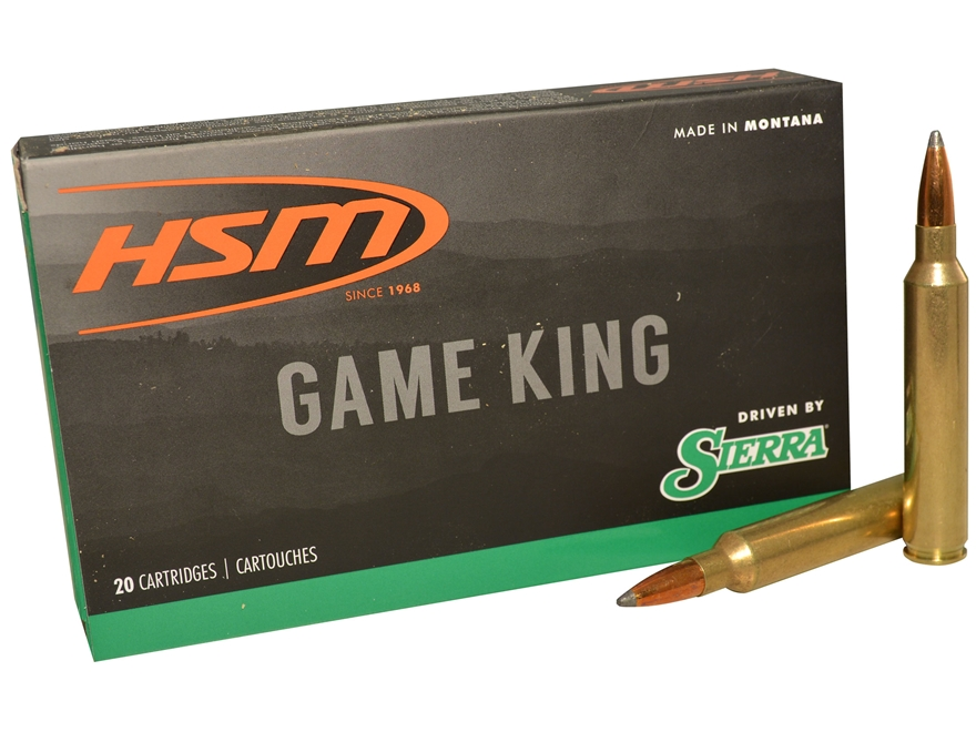 HSM GameKing Ammunition 300 Remington Ultra Magnum 165 Grain Sierra GameKing Soft Point...